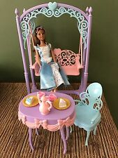 Barbie Erika Disney Princess & Pauper Tea Set Playset Very Hard To Find EUC NC