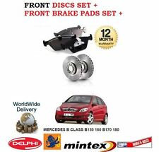FOR MERCEDES B150 B160 B170 B180 2005-  NEW FRONT BRAKE DISCS SET + PADS KIT
