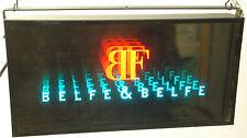 Vintage insegna luminosa pubblicità Belfe&Belfe moda anni'80 Arte Cinetica-LL