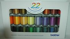 Brother Embroidery Machine Embroidery Threads BOX OF 22 Brother Reels - B243