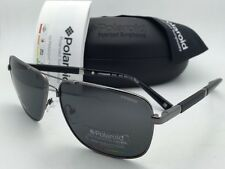 New POLAROID Sunglasses POLARIZED PLD 2001/S KJ1 Y2 61-13 Ruthenium w/ Grey Lens