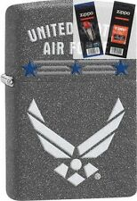 Zippo 29121 united states air force Lighter with *FLINT & WICK GIFT SET*