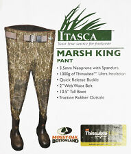 NEW Itasca March King Waist Wader SIZE 10 Regular Mossy Oak Bottomland Camo