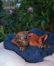 OOAK baby marmoset MONKEY by fairy artist FPFC minuature monkey sculpture