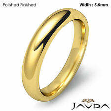 Dome Comfort Fit Wedding Band 14k Yellow Gold Women Ring 5.5mm 5.5gm Sz 5 - 5.75