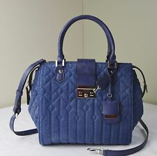 Guess Blue Denim Quilted Kalen Box Satchel