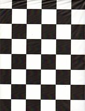 Black & White Checker table cover tablecloth rectangular plastic 54 x 108 (2 pc)