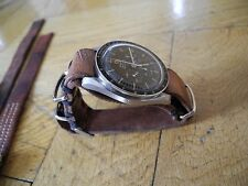 Handmade 1972er supreme Vintage Nato Leather Strap with Omega Speedmaster Buckle