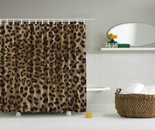 Leopard Animal Print Digital Fabric Shower Curtain Wild Jungle Bathroom Decor
