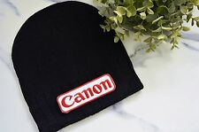 CAMERA CANON Photographer  Patch Beanie Adult Ski Unisex Knitted Street Skater