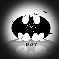 Batman Cloche Horloge Murale Décoration Créative Moderne Silencieux pour maison