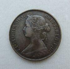 1862 Great Britain Half (1/2) Penny XF+ Condition - Nice Coin / Grade