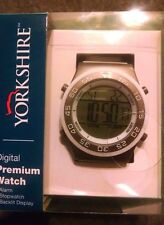 Yorkshire Digital Premium Watch Alarm &Stopwatch Battery included Gray/White New