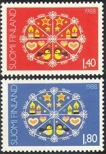 Finland 1988 Christmas/Greetings/Birds/Candles/Decorations/Animation 2v (b735d)