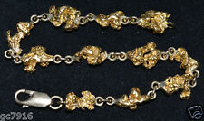GOLD NUGGET BRACELET NATURAL 23.605g  Palmer River Qld  with 18ct Clasp & Links