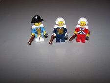 LEGO® PIRATE minifigure CUSTOM COMMANDER LOT officer british imperial wig hat