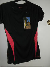 NRG MOUNTAIN LIFE ACTIVE BLACK & PINK SHORT SLEEVE TOP - BNWT