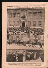 WWI King Victor Emmanuel III Italy piazza del Quirinale Rome 1919 ILLUSTRATION
