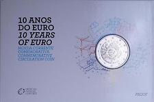 """Portugal """"10 Jahre Euro"""" 2 Euro 2012 - Polierte Platte in Blisterkarte"""