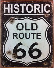 PLAQUE METAL PUBLICITAIRE VINTAGE USA 41x32 cm old route 66 DECO/COLLECTION