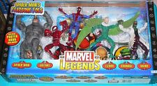 "MARVEL LEGENDS SPIDER-MAN FEARSOME FOES BOX SET NEW SEALED 6"" FIGURES TOY BIZ"