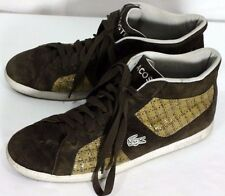 Lacoste Mens Size 10.5 Brown Suede Tennis Shoes / Sneakers / Walking Shoe