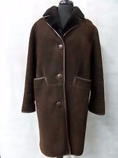 Ladies Brown Downland Sheepskin Coat Size 14 CC3929