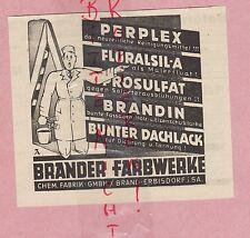 BRAND-ERBISDORF, Werbung 1936, Brander Farbwerke Chemische Fabrik GmbH PERPLEX