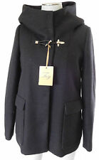 NWT Fay hooded black wool duffel coat jacket size XS $1045 quilted interior