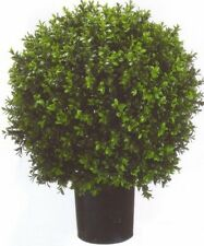 "ARTIFICIAL 24"" OUTDOOR UV BOXWOOD TOPIARY TREE 2' BUSH BALL PORCH PATIO DECK IVY"