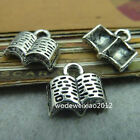 20pc Tibetan Silver Charms Book Pendant Beads Jewellery Making Wholesale PL249