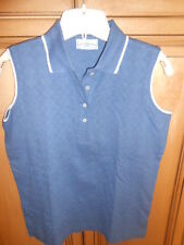 OUTER BANKS LADIES POLO GOLF COLLARED SHIRT WEDGWOOD BLUE SZ SMALL GOLF NEW