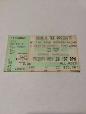 1997 ZZ Top Concert Ticket Stub Rose Garden Arena Portland Oregon Double Tee