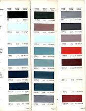 1964 DODGE DART PLYMOUTH FURY BARRACUDA CHRYSLER IMPERIAL 64 PAINT CHIPS DUPONT9