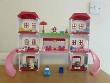HELLO KITTY MEGA BLOKS  - HOLIDAY HOUSE - USED