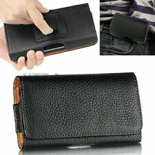 * FOR Senior Citizen Mobile * PU Leather Magnetic Flip Belt Hip Pouch Case -3.5""