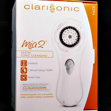 White Clarisonic Mia 2 Sonic Skin Cleansing System 2 Speed - Brand New