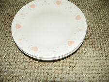 SET OF 4 CORELLE FOREVER YOURS DINNER PLATES   10 1/4 INCHES