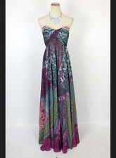 NWT Jovani Size 2 Prom Formal Mixed Print Multi $550 Strapless Gown Evening Long