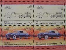 1940 LINCOLN CONTINENTAL Car 50-Stamp Sheet / Auto 100 Leaders of the World