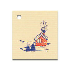 50 SMALL*HOME IN WINTER*HANG TAGS & STRINGS, PRICE GIFT COUNTRY CRAFTS CHRISTMAS