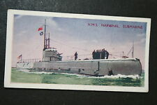 HMS NARWHAL   Royal Navy Fleet Submarine    1930's Vintage Colour  Card