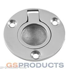 Round Stainless Steel Deck Lifting Ring Pull Hatch Plate 50mm FREE P+P
