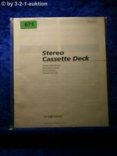 Sony Bedienungsanleitung TC K461S / K361 Cassette Deck (#0671)