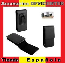 Leather Flip Belt Clip Case Holster Vertical para =  Fnac Phablet 4.5 #