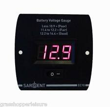 SARGENT EC10 DIGITAL BATTERY VOLTAGE STATUS GAUGE LEVEL METER caravan camper zig