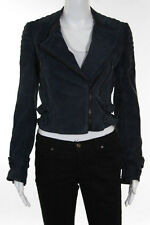 A.L.C. Navy Blue Suede Jacket Size 4 New With Tags