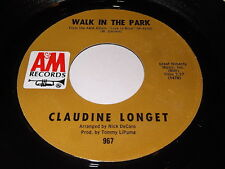 Claudine Longet: Walk In The Park / Who Needs You 45