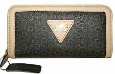 GUESS Monogram Zip-Around Clutch Wallet NWT