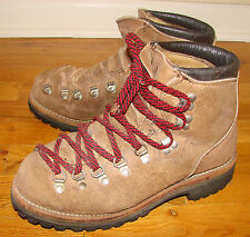 Vintage 1980's Men's DEXTER Suede Mountaineering Hiking Size 8 M Made in USA